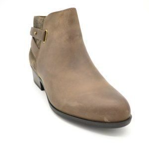 Clarks Womans Addiy Gladys Ankle Boots Taupe NEW